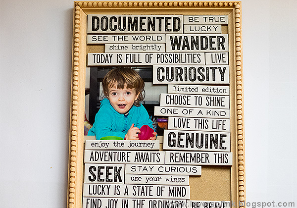 Layers of ink - Bright Words in a Frame by Anna-Karin with Tim Holtz idea-ology