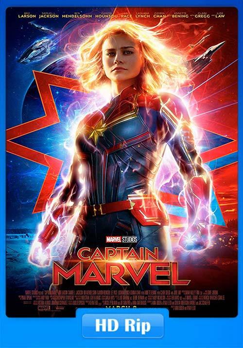 Captain Marvel 2019 720p HDRip Hindi Tamil Telugu Eng ESub | 480p 300MB | 100MB HEVC Poster