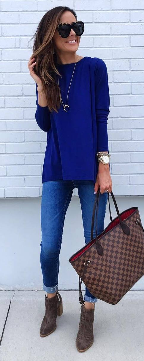 casual style obsession / top + plaid bag + skinny jeans + boots