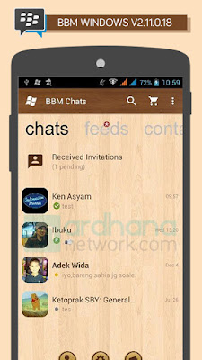 Preview BBM Windows Wood