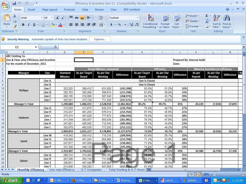 Download Free Internal Audit Working Papers