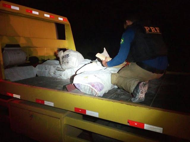 PRF apreende Maconha em caminhão acidentado na Regis Bittencourt em Cajati
