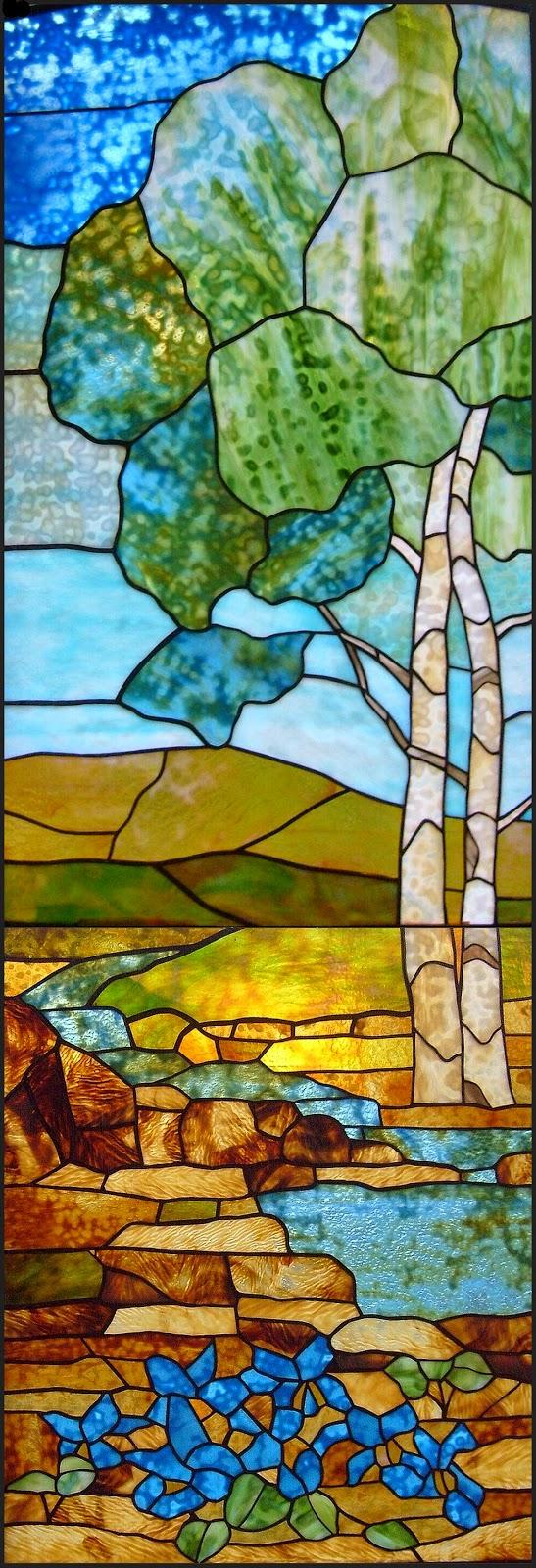 tiffany vitráž do dveří
