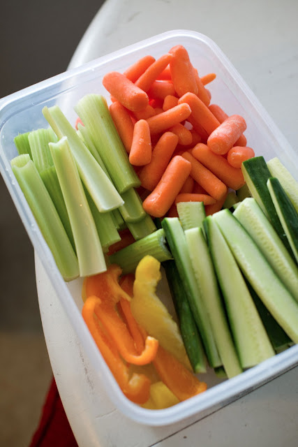 Cut up vegetables so they are ready to eat!