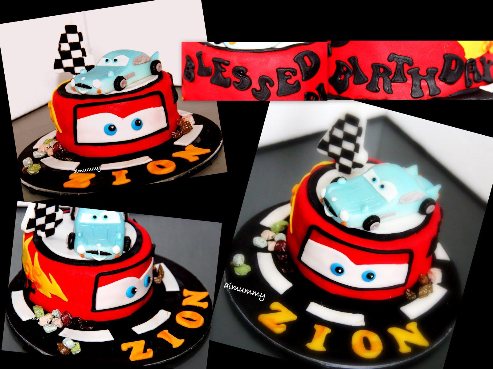Disney Cars Birthday Cake: AiMummy: Zion's Disney Car Theme Cake