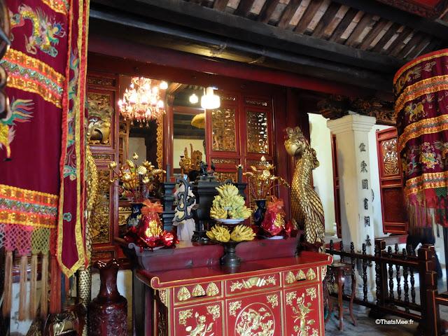 temple ngoc son pont rouge tortue vietnam hanoi