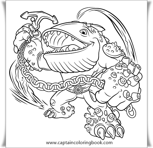 Pop Fizz Skylander Giant - Free Colouring Pages | 498x514