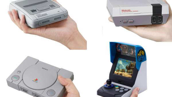 Versiones mini de las consolas Super Nintendo, NES, PlayStation y Neo Geo