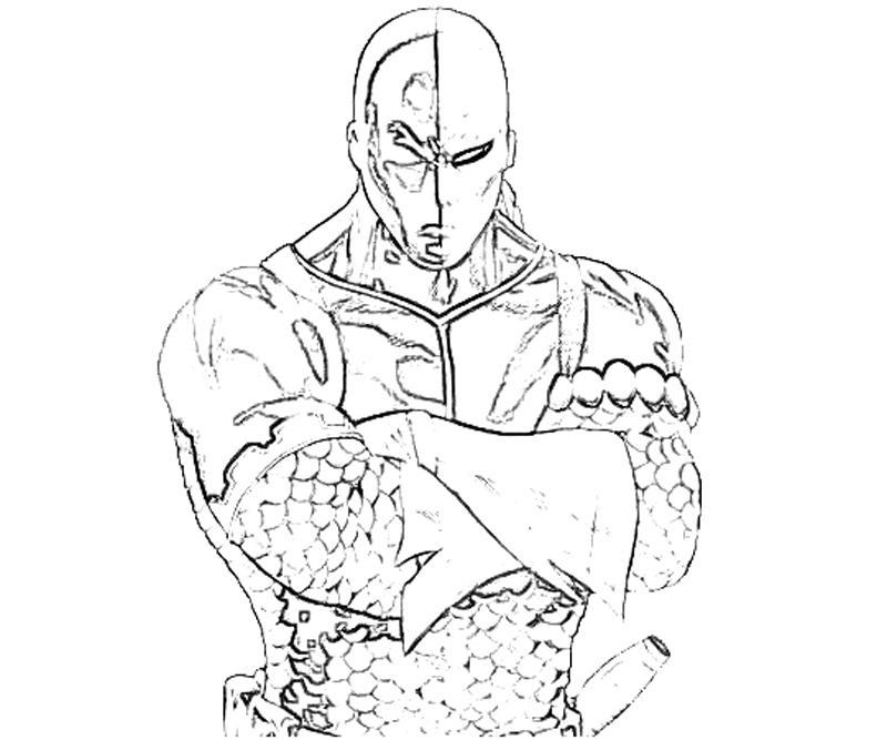 coloring pages of deathstroke costume   DC Universe Deathstroke Sword   Yumiko Fujiwara