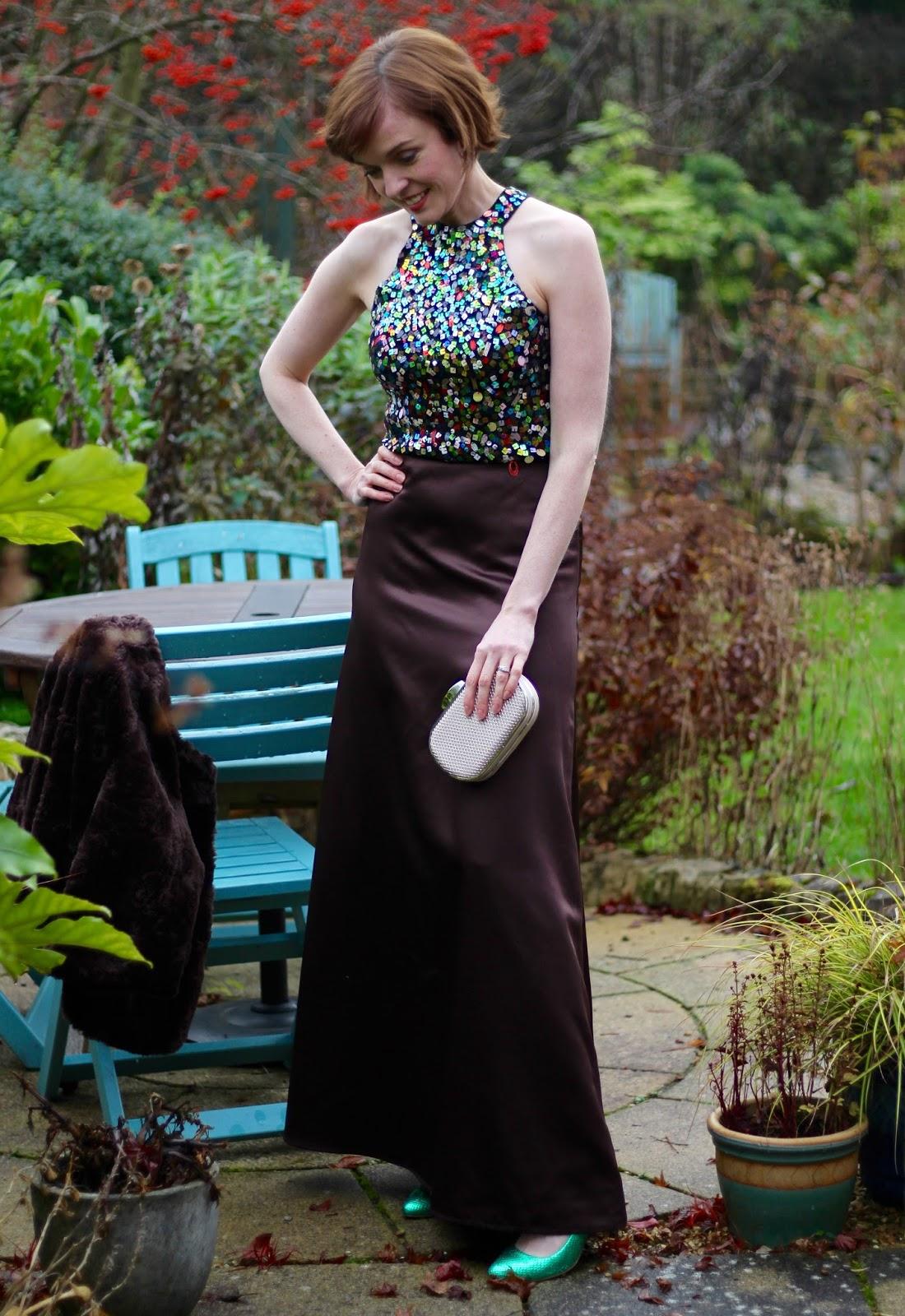 PPP 10 | Satin Maxi Skirt and Sequin top | Party Outfit | Fake Fabulous