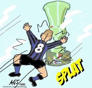 inter, juve, coppa italia, sport, calcio, umorismo, vignetta