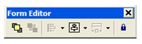 form editor toolbar visual basic 6.0