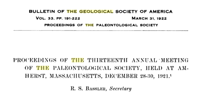 Carbonacea entire entry for cushman and dumble papers both read by esther richards bulletin of the geological society of america vol 33 proceedings of the 13th fandeluxe Gallery