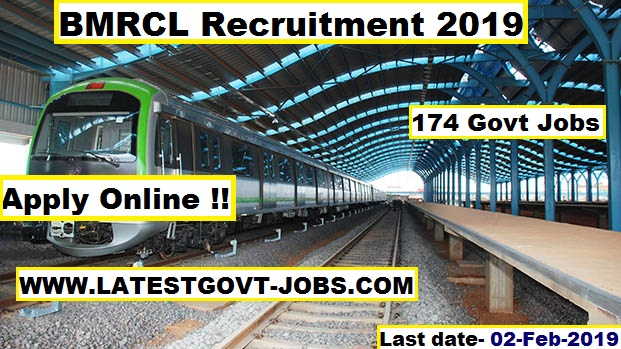 BMRCL Recruitment 2019 : 174 Jobs for Maintainer, JE : last date - 02 Feb 2019 - Apply Online