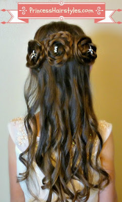 Triple rosette #halfuphairstyle tutorial. #flowergirlhairstyle