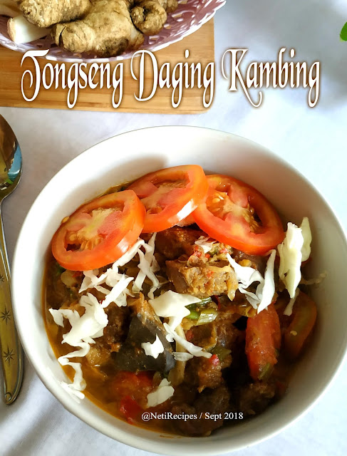 Tongseng Daging Kambing @NetiRecipes 2018