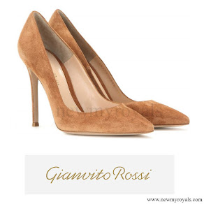 Queen Maxima wore Gianvito Rossi Suede Pumps