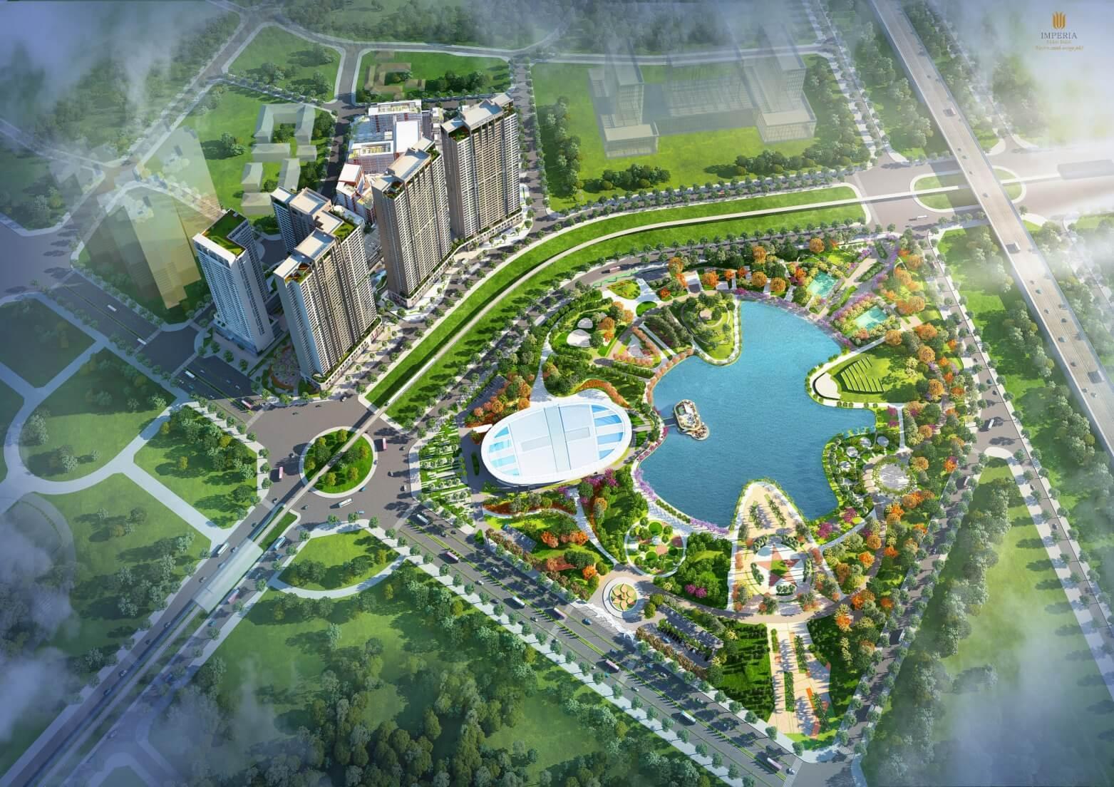 Phối cảnh tổng thể dự án Imperia Eden Park Mễ Trì