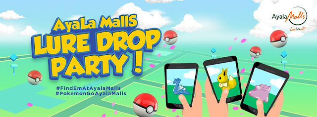 Win over 5,000 Pokecoins from Globe X Ayala Mall's Lure Drop Party!