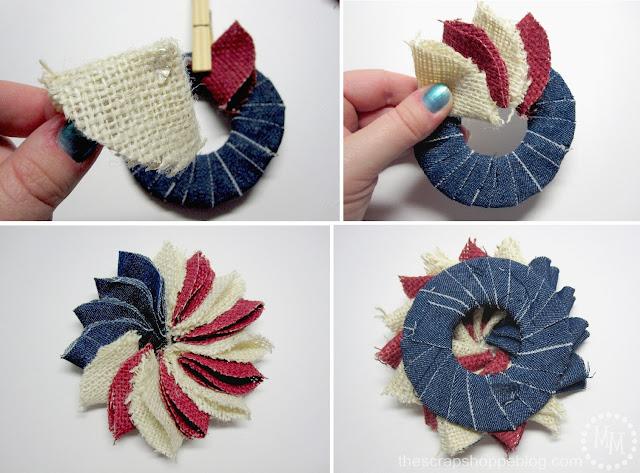 layering fabric circles