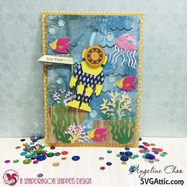 ScrappyScrappy: Under the Sea Slider Card with Angeline #svgattic #scrappyscrappy #underthesea #interactivecard #slidercard #card #cardmaking #papercraft #cutfile #svg