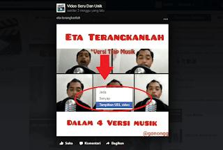 cara mengunduh video di facebook