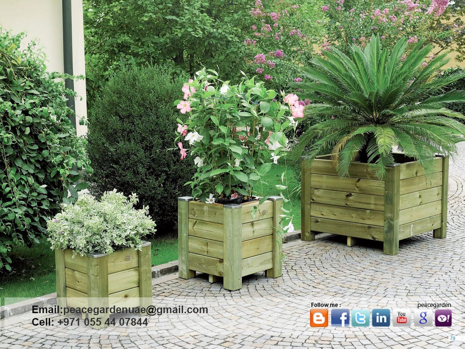 Peace Garden Wooden Planters Manufacturer UAE