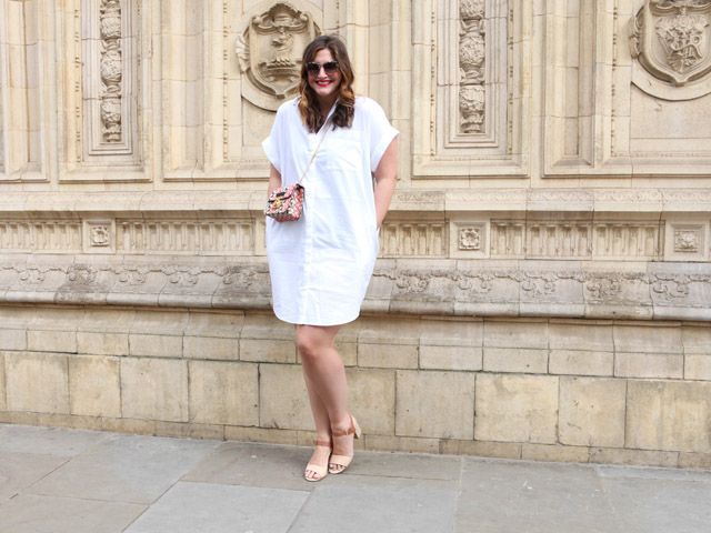 The little white shirt dress
