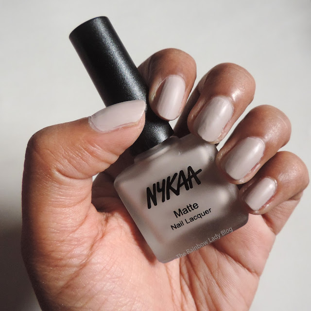 Nykaa matte nail lacquer in s'mores milkshake