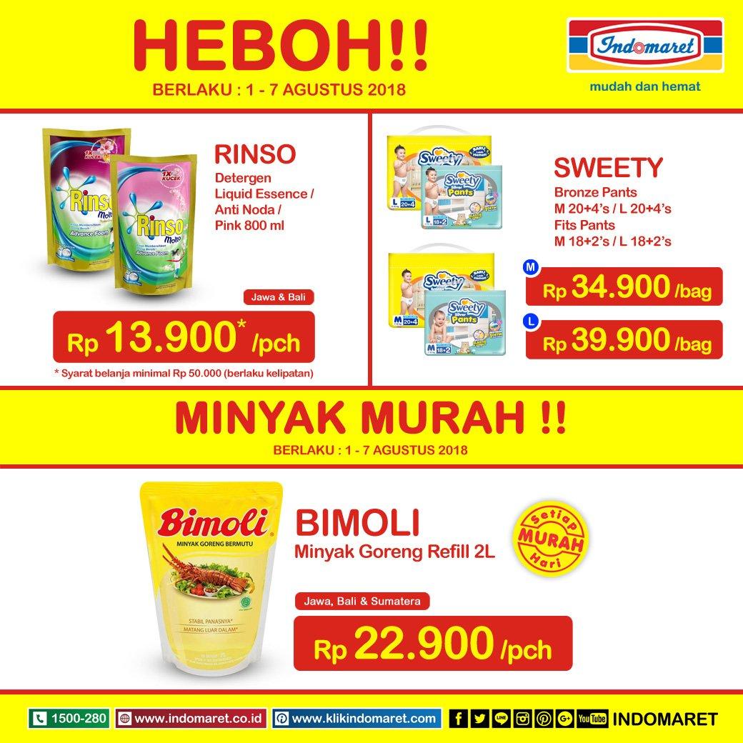 Indomaret - Promo Heboh Periode 01 - 07 Agustus 2018