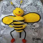 patron gratis abeja amigurumi