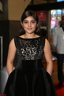 Niveda Thomas Black Sleeveless Cute Dress at 64th Jio Filmfare Awards South 2017 ~  Exclusive 063.JPG
