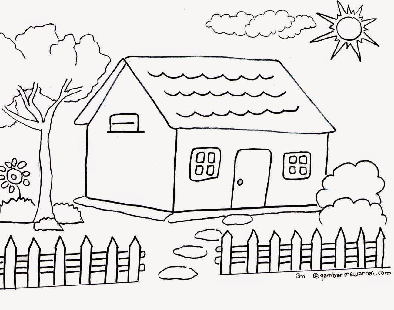 Gambar Rumah Hitam Putih Gol Rumah
