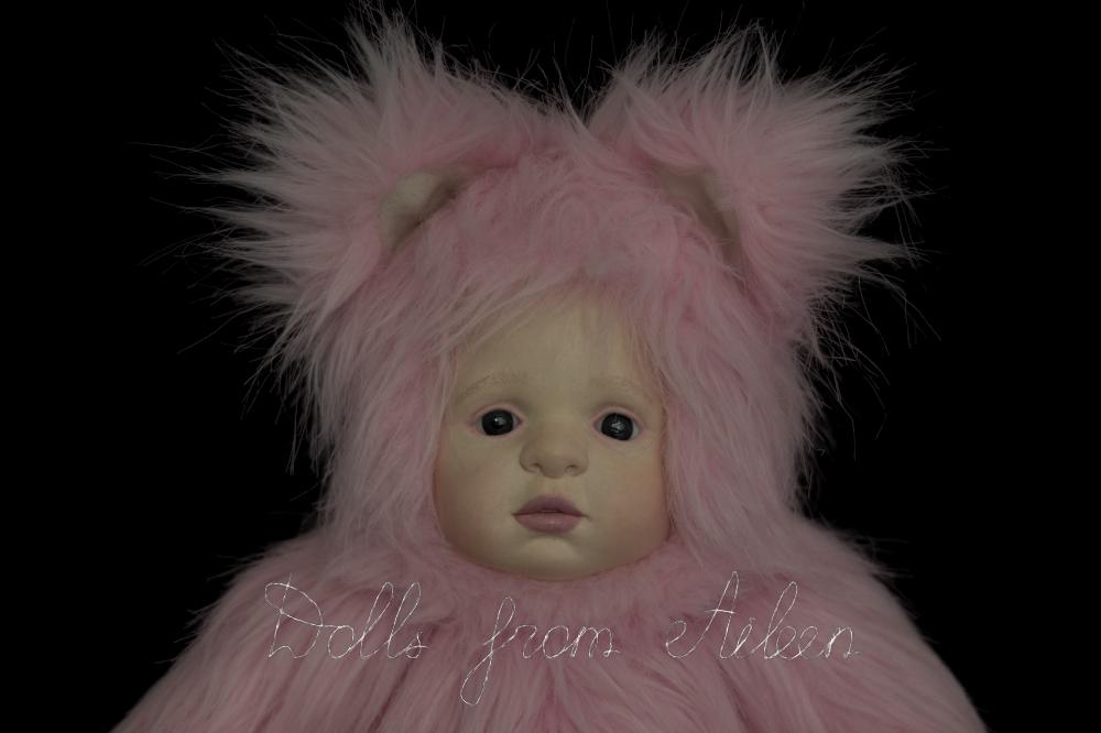 ooak artist kitten teddy doll's face