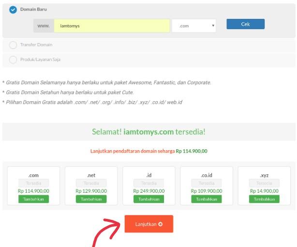 Order domain Idwebhost