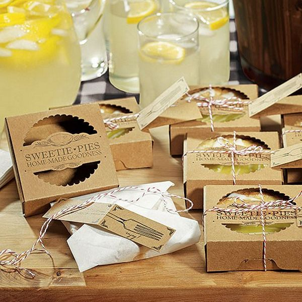 Personalized Pie Wedding Favor Boxes