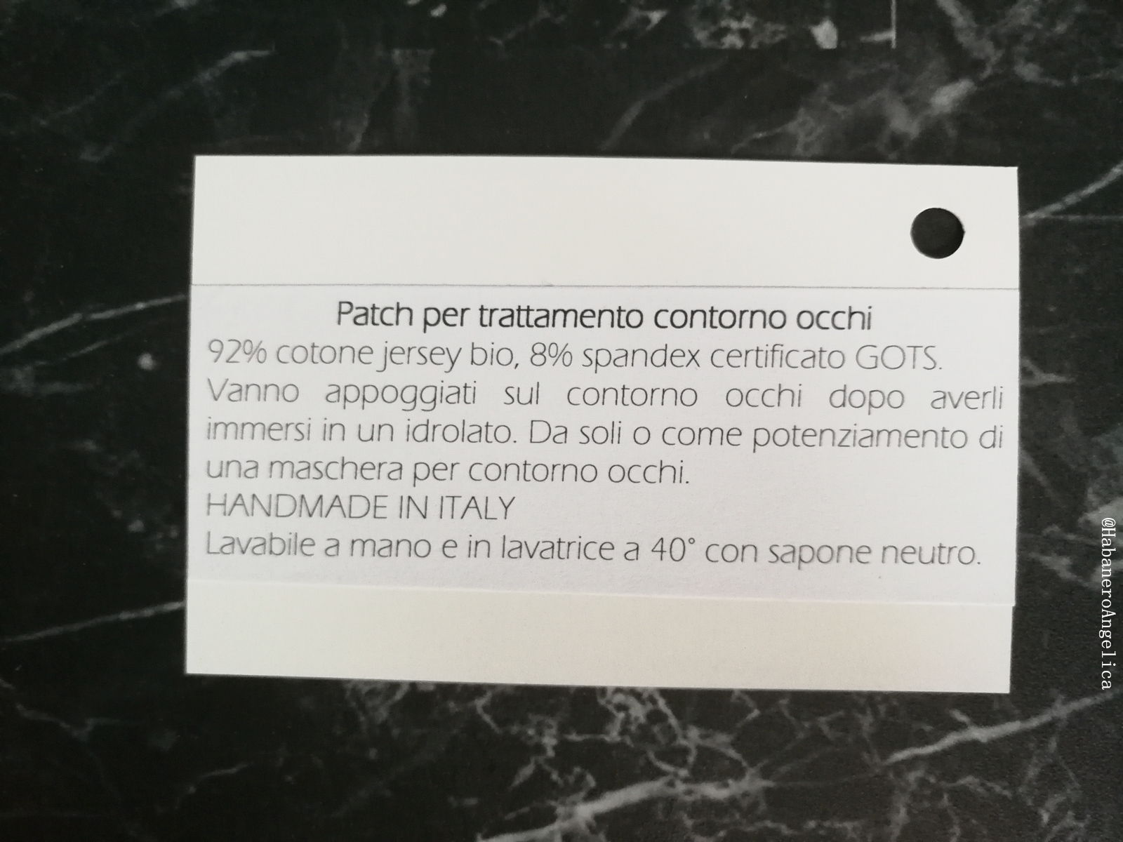 patch occhi occhiaie HANDMADE IN ITALY Beauty Things Handmade