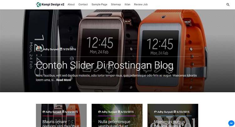Premium Blogger Template AMP - Kompi Design V2