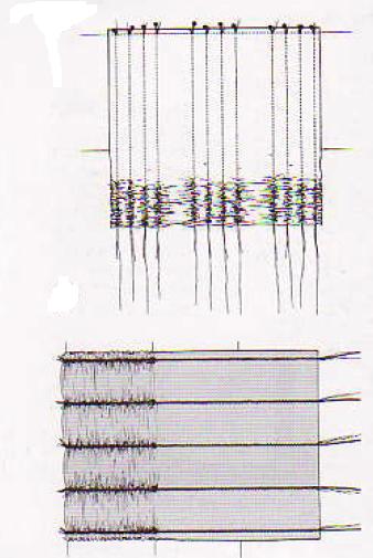 Los fruncidos verticales ayudan a acortar el molde y a hacer drapeados a lo ancho.