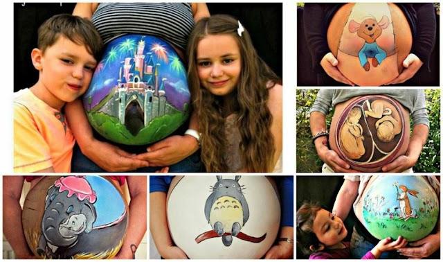 Maternidad y el body painting