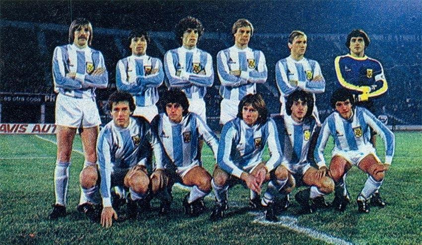 Formación de Argentina ante Chile, amistoso disputado el 12 de mayo de 1983