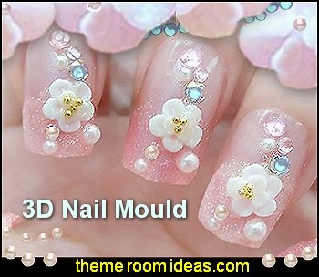 3D Nail Art Mould Cast flowers nail decorations-nail design ideas