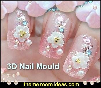 3D Nail Art Mould Cast flowers nail decorations-nail design ideas