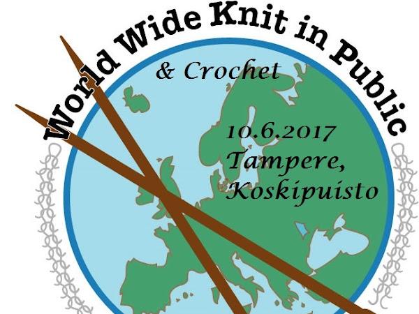 Knit in Public -tapahtuma Tampereella 10.6.2017