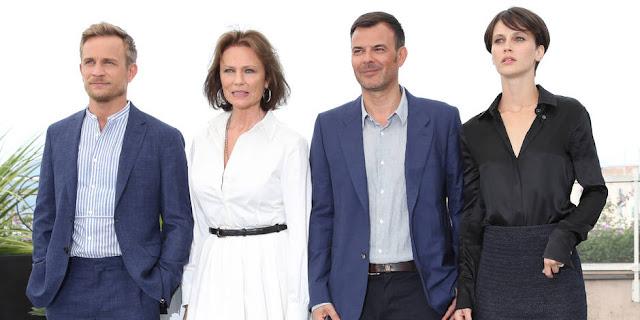 Jérémie Renier, Jacqueline Bisset, François Ozon, et Marine Vacth à Cannes pour L'amant double