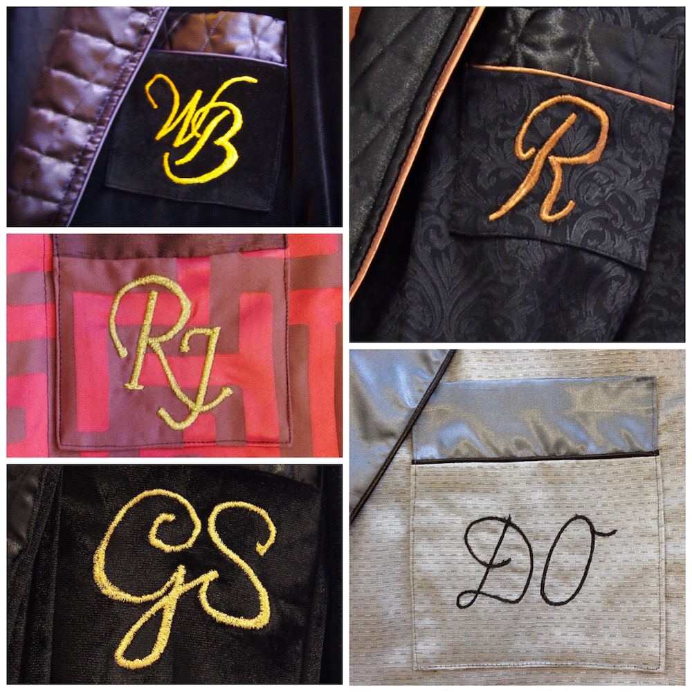 Initials embroidery