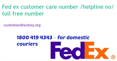 Fed ex courier customer care india ,usa contact number toll free
