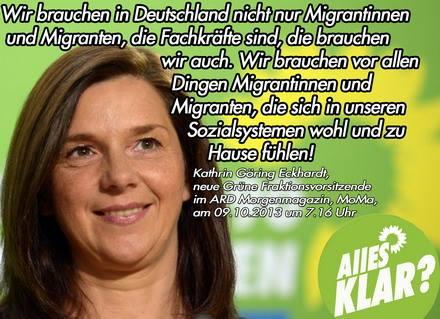Deutschlandhasser Grüne Zitate