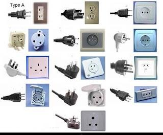 اشكال فيش الكهرباء لكل بريزة