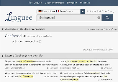 Chefsessel bei Linguee